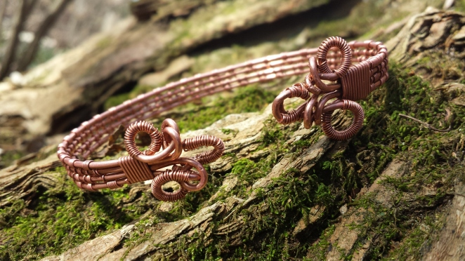 Woven Copper torc, January 2015. https://www.etsy.com/listing/221895911/woven-copper-torc-with-knot-design