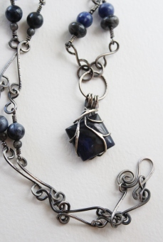Elivagar, Sodalite and Sterling Silver, Part of the 2018 Roots Series
